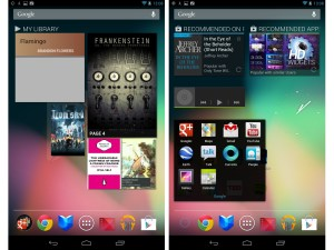 Nexus 7 home screens