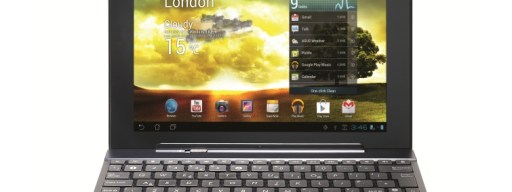 Asus Transformer Pad 300 - front with keyboard dock
