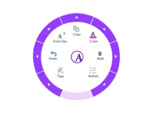 OneNote 2013: radial menu