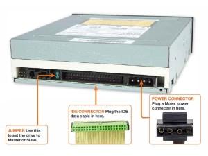Optical drive IDE ports