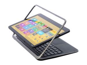 Dell XPS 12 - rear 3/4 (screen flipped)