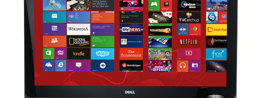 Dell XPS One 27 - front with keyboard and mouse