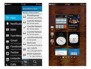 BlackBerry Z10 - interface