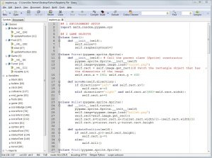 The Geany development environment is ideal for coding in Python