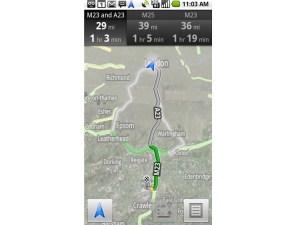Google Maps satnav