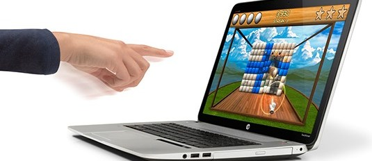 HP Envy 17 laptop builds in Leap Motion