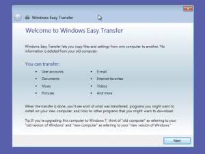 The Windows Easy Transfer tool will help keep your data safe while you're upgrading