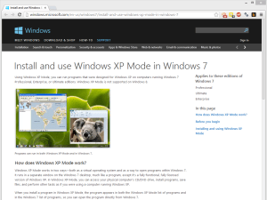 XP Mode lets you run incompatible software in a virtualised Windows XP environment