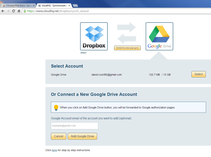 Synch Google Drive and Dropbox