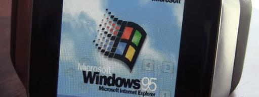 Windows 95 smartwatch