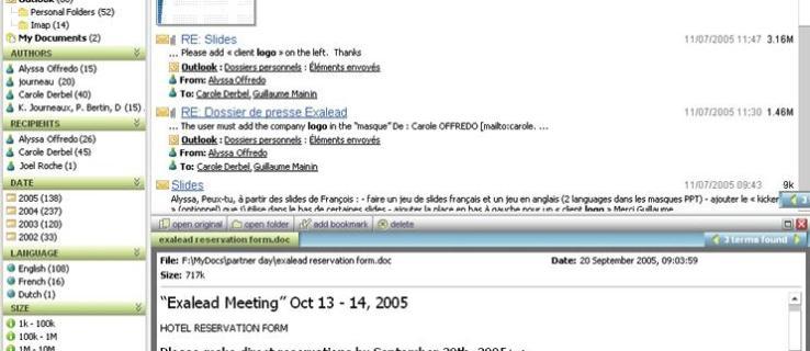 Exalead One:Desktop review