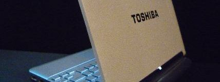 The Toshiba Mini NB200 from the rear