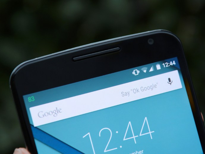 Nexus 6 review - front top
