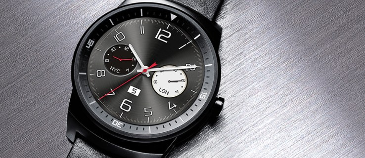 LG G Watch R review - watch against stainless steel backdrop