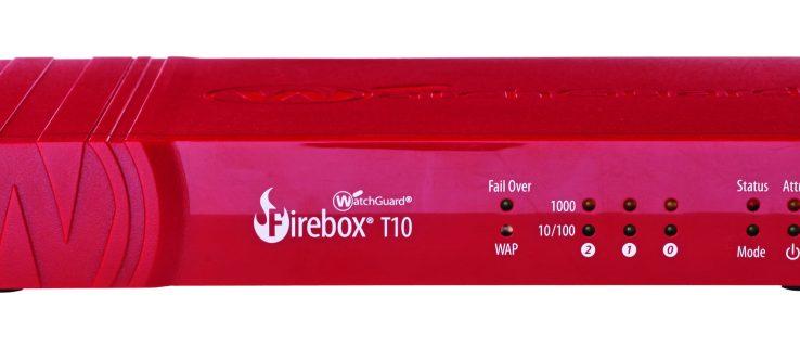 WatchGuard FireBox T10-W review - front view