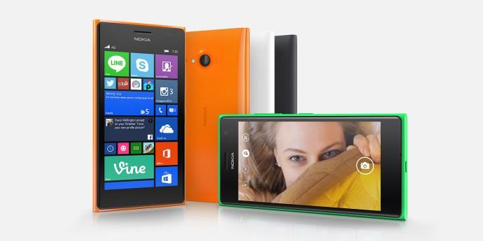 Nokia Lumia 735 review - group shot