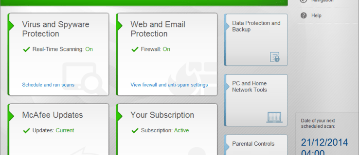 Mcafee Internet Security (2015) review - main UI
