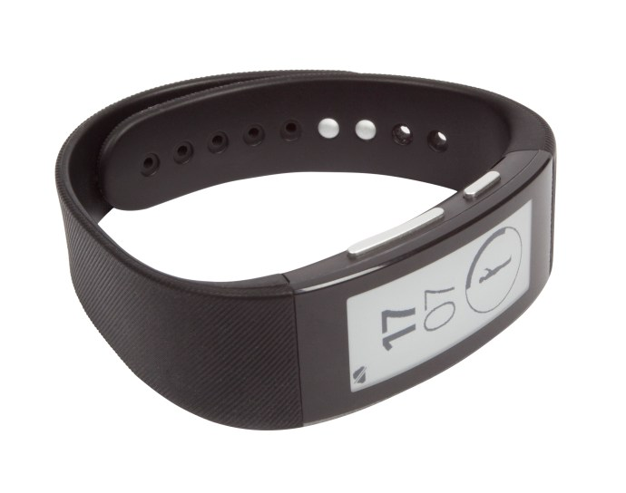 Sony SmartBand Talk - on its side from front