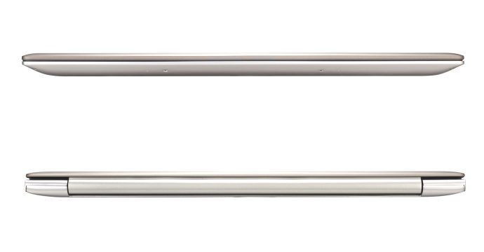Asus Zenbook UX303LA - front and rear closed