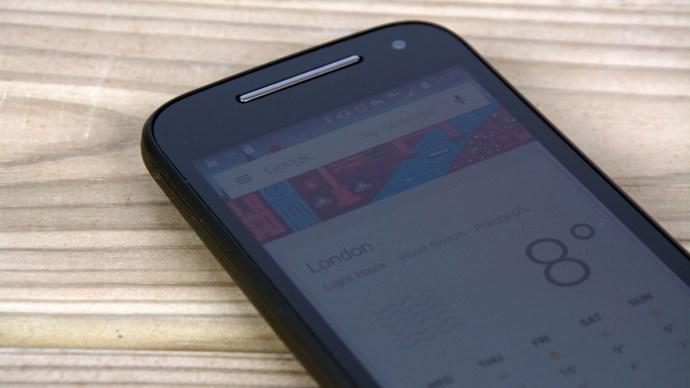 Motorola Moto E (2015) Review - screen close