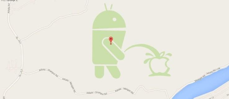 Android robot Google Map prank