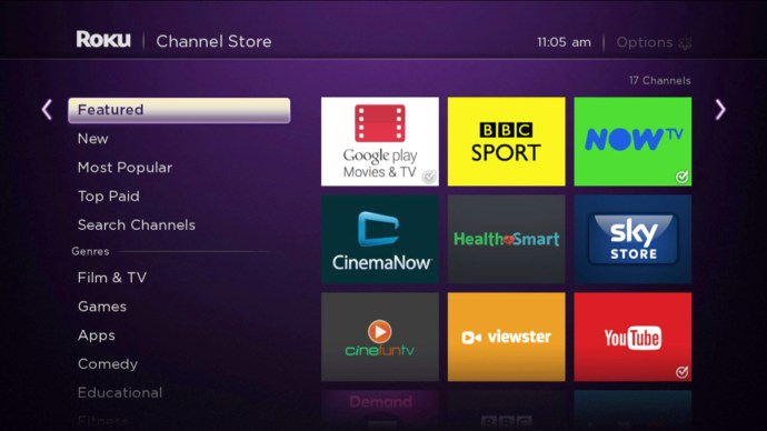Roku 2 screenshot: Store