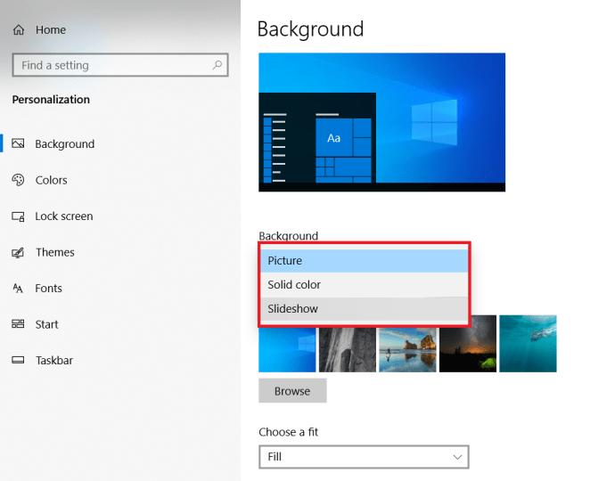 Microsoft Windows 10 How to change Wallpaper - Personalisation Slideshow