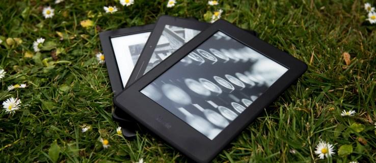 Amazon Kindle Paperwhite (2015) alonside the Kobo Glo HD and Amazon Kindle Voyage e-readers