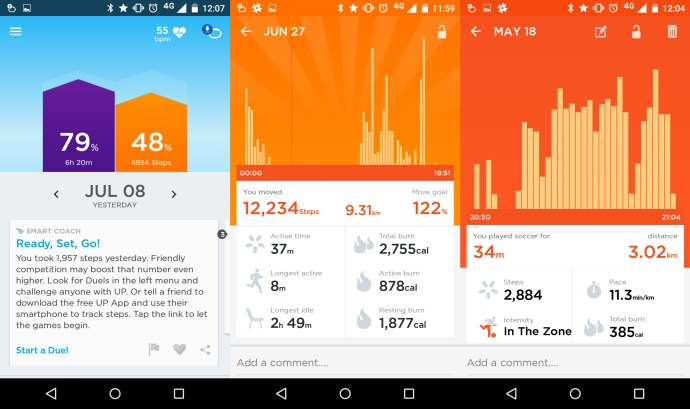 Jawbone Up3 review: Smart Coach and activity tracking in the Up app is detailed and comprehensive