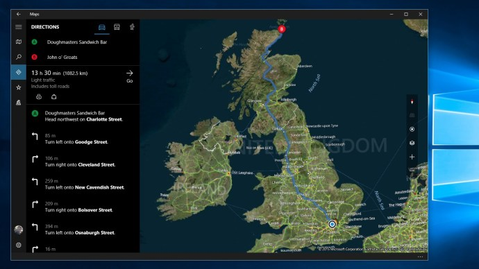 Windows 10 review: The new Maps app