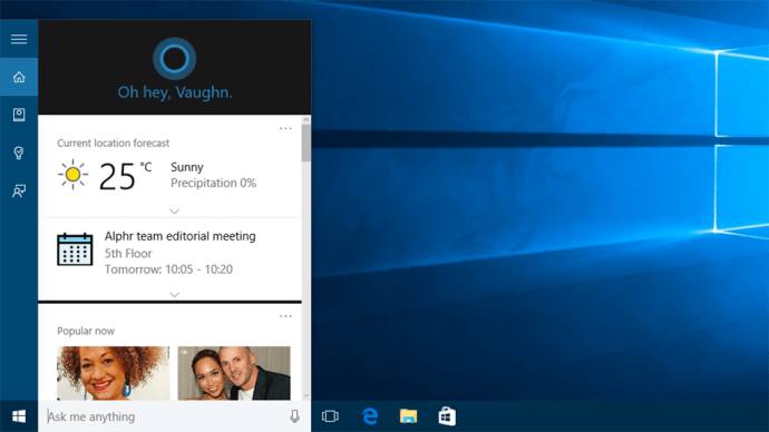 Windows 10 can that Windows 8.1 can't - Cortana