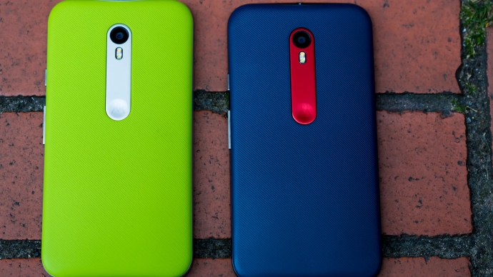 Motorola Moto G 3 review: The textured rear shell is available in a number of bright colours