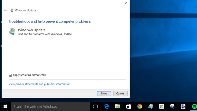 Windows update troubleshoot