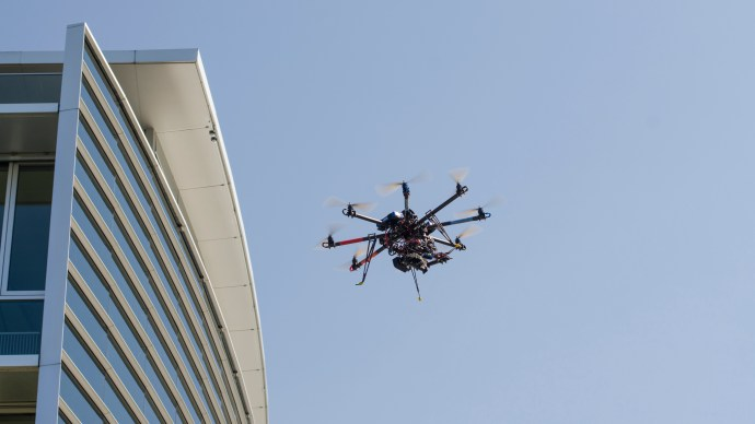 Drone drug smuggling - octocopter drone