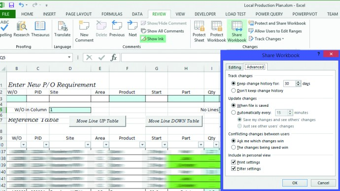 Solving Spreadsheet problems with databases - Multi-user editing