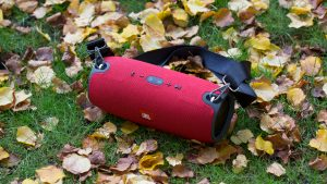 JBL Xtreme review: Clad in water-resistant fabric, the Xtreme is ideal for use outdoors