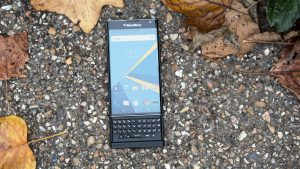 BlackBerry Priv review: The Priv has a hardware keyboard, hidden beneath a curved quad-HD screen