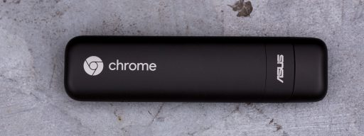 Asus Chromebit review: From above, cap on