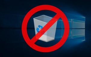 remove recycle bin windows 10 desktop