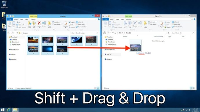 windows drag and drop move