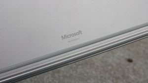 Microsoft Surface Book review: Microsoft logo on underside