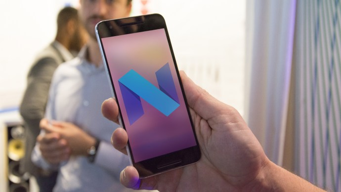 Android N review: Nexus 6P with logo onscreen