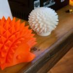 imaker_3d_printer_showcase_-_hedgehog_and_mushroom_models