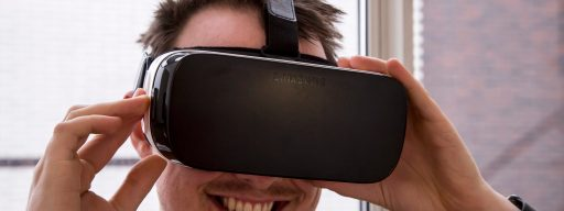 Samsung Gear VR being worn