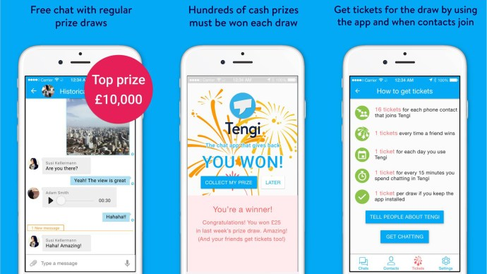 tengi_startup_charity_chat_app