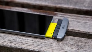 LG G5 expansion module release button