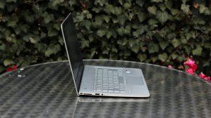 HP Envy 13 left edge, open