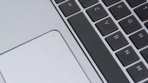 HP EliteBook Folio G1 keyboard and touchpad closeup