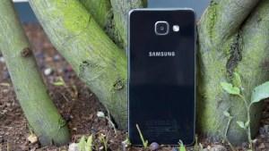 Samsung Galaxy A5 rear against tree