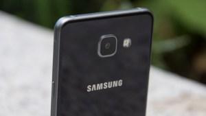 Samsung Galaxy A5 camera at an angle